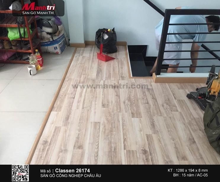 Lắp đặt sàn gỗ công nghiệp Classen 26714 tại Q.Bình Tân, TP.HCM