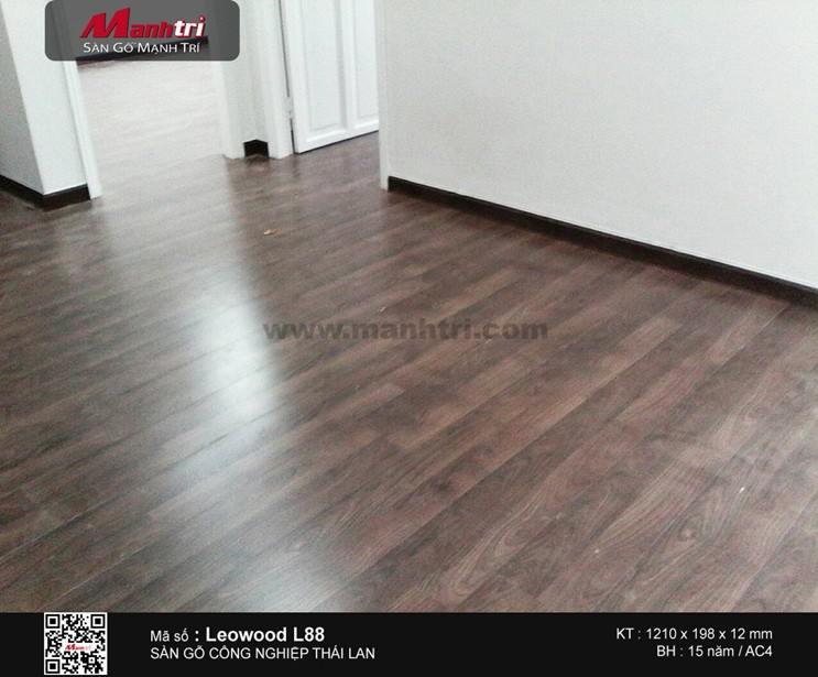 Lắp đặt sàn gỗ công nghiệp Leowood L88 tại Q.Phú Nhuận, TP.HCM