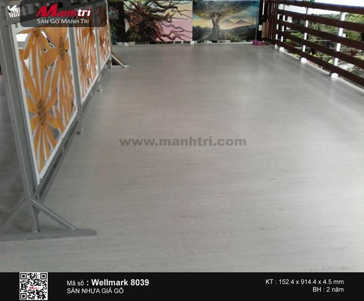 Lắp đặt sàn nhựa giả gỗ Wellmark 8039 tại Quận Thủ Đức, TP.HCM