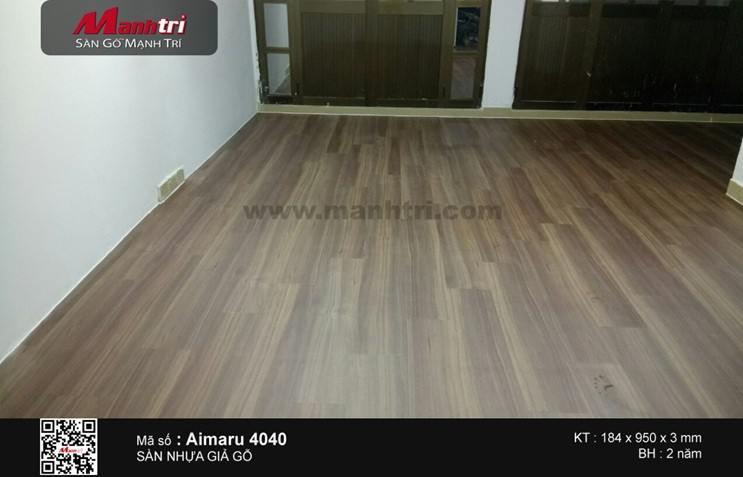 Lắp đặt sàn nhựa giả gỗ Aimaru 4040 tại Phú Nhuận, TP.HCM