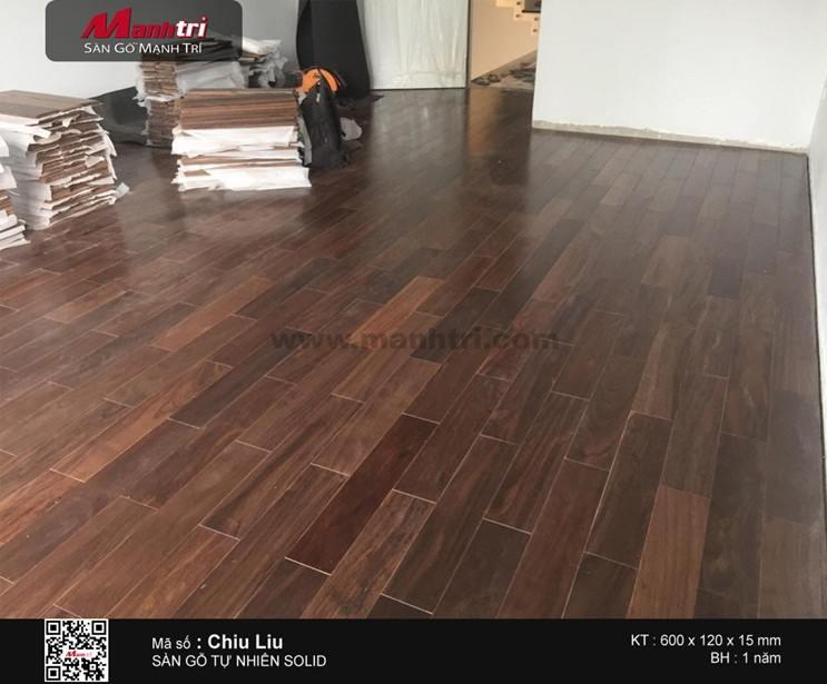 Lắp đặt ván sàn gỗ tự nhiên Chiu Liu tại Q.Tân Phú, TP.HCM