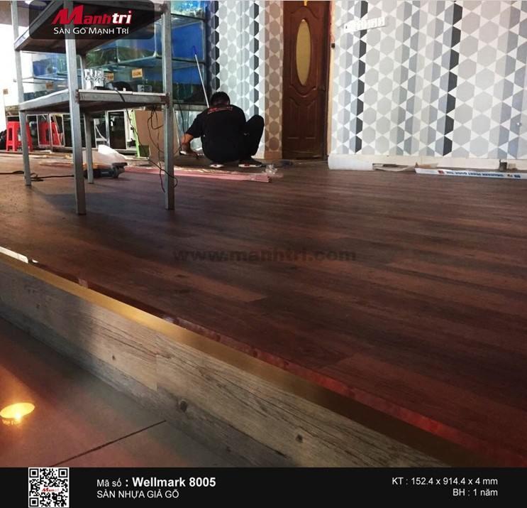 Lắp đặt sàn nhựa giả gỗ Wellmark 8005 tại Quận 5, TP.HCM