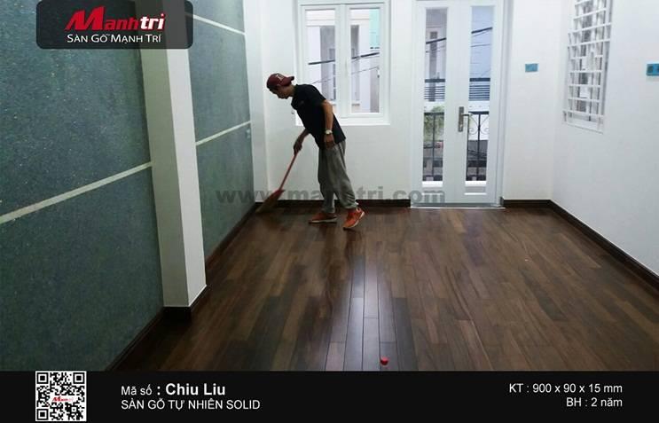 Lắp đặt ván sàn gỗ tự nhiên Chiu Liu tại Q.Bình Thạnh, TP.HCM