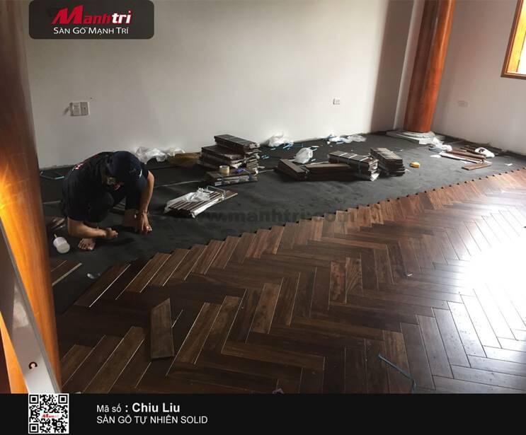 Thi công gỗ tự nhiên Chiu Liu tại Nghệ An