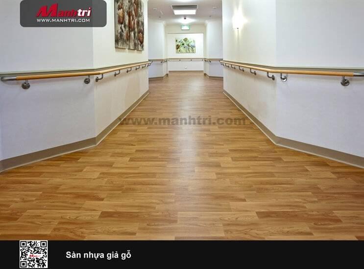 Sàn nhựa vân gỗ đẹp và tinh tế
