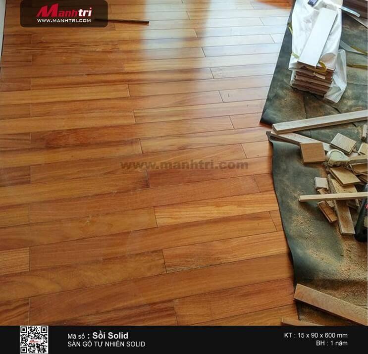 Lắp đặt gỗ tự nhiên Gõ Đỏ & Sồi tại Q.Phú Nhuận, TP.HCM