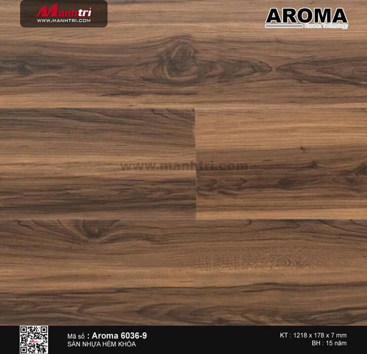 Sàn nhựa hèm khóa Aroma 6036-9