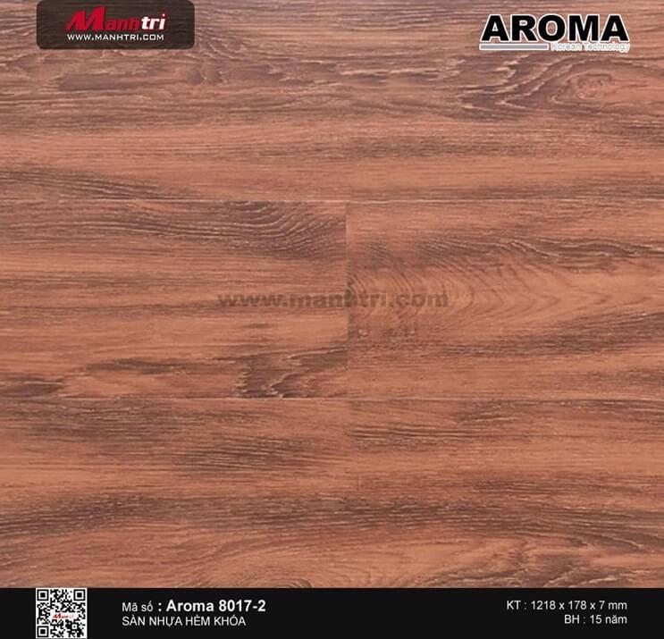 Sàn nhựa hèm khóa Aroma 8017-2