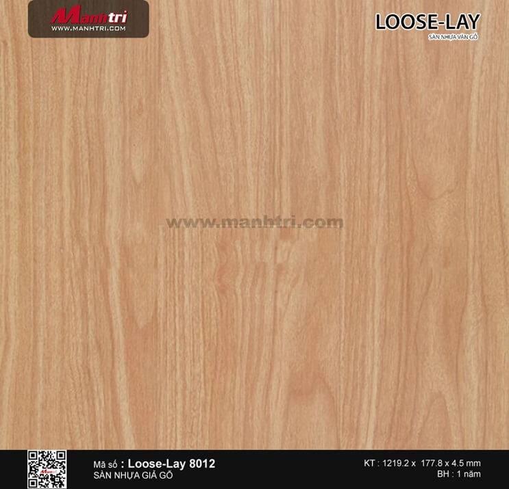 Sàn nhựa giả gỗ Loose-Lay 8012