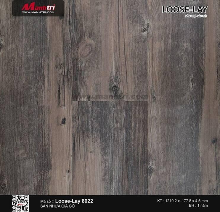 Sàn nhựa giả gỗ Loose-Lay 8022