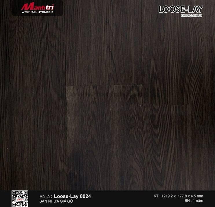 Sàn nhựa giả gỗ Loose-Lay 8024