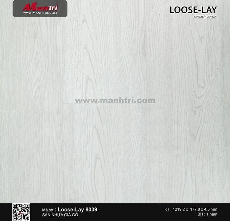 Sàn nhựa giả gỗ Loose-Lay 8039