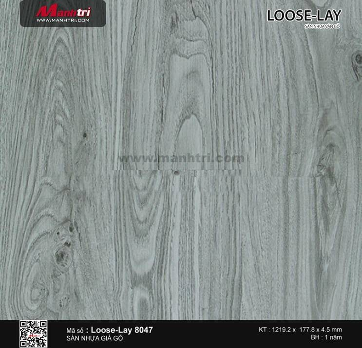 Sàn nhựa giả gỗ Loose-Lay 8047