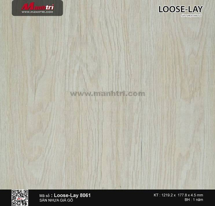 Sàn nhựa giả gỗ Loose-Lay 8061
