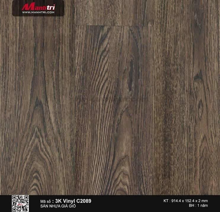 Sàn nhựa giả gỗ 3K Vinyl C2089