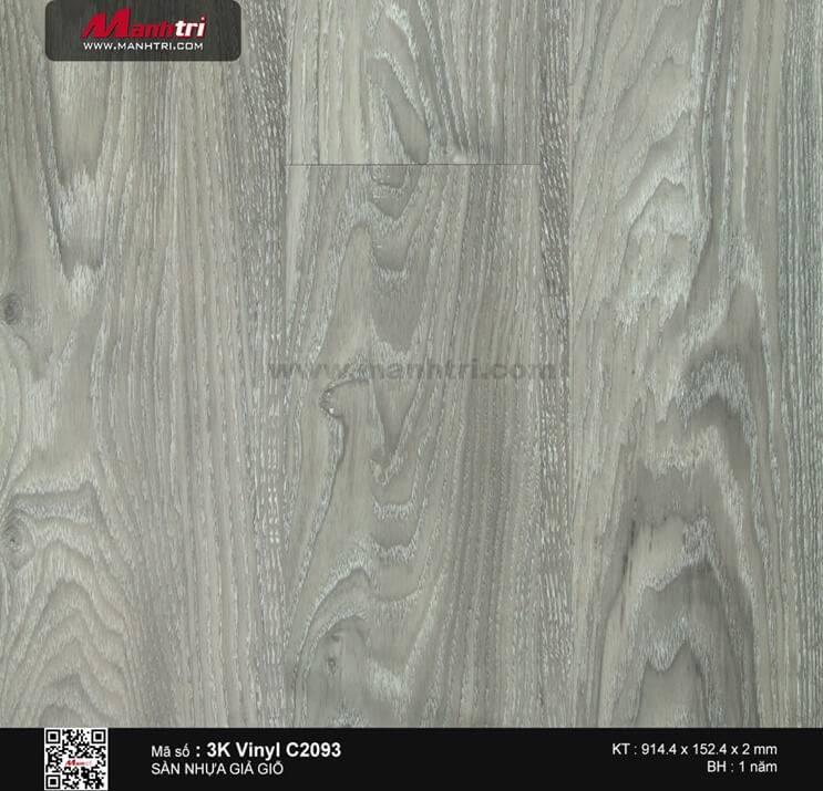Sàn nhựa giả gỗ 3K Vinyl C2093