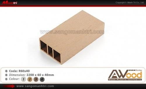Thanh gỗ nhựa Awood R60x40