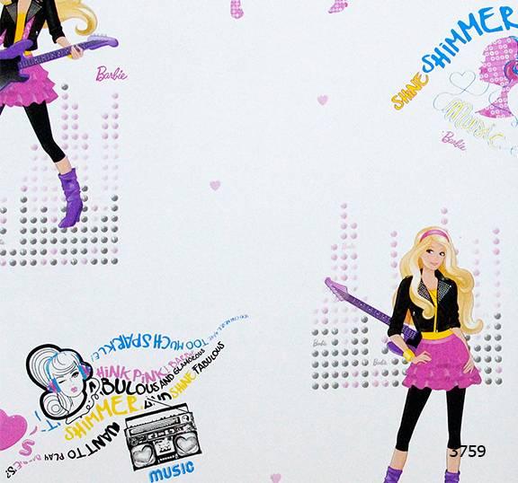 Giấy dán tường Barbie 3759