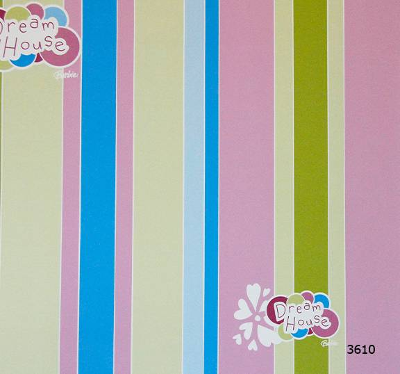 Giấy dán tường Barbie 3610