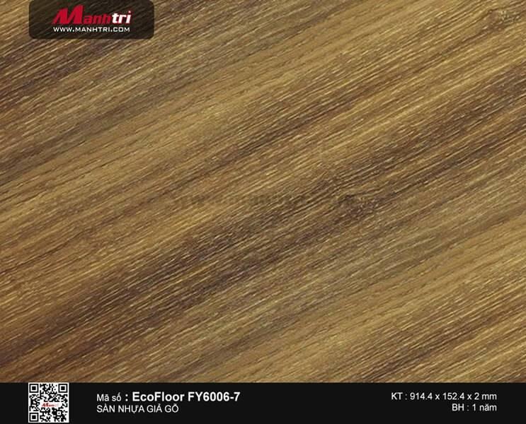 Sàn nhựa giả gỗ Ecofloor FY6006-7