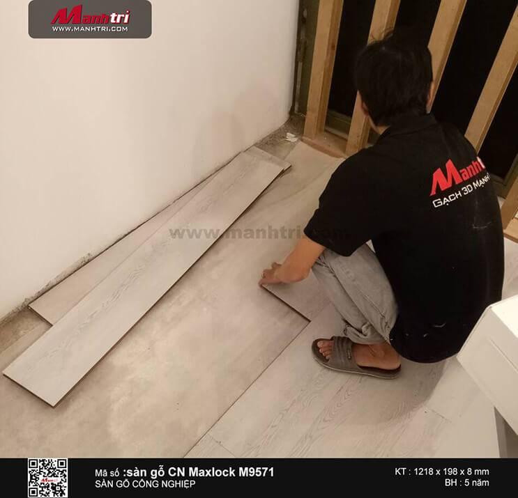 Thi công sàn gỗ Maxlock M9571 tại Sư Vạn Hạnh, Q.10