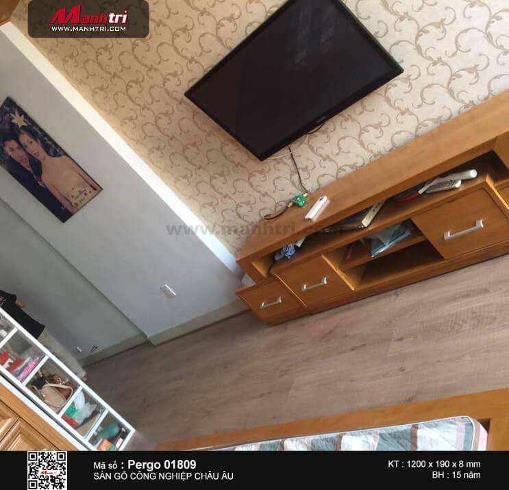 Thi công sàn gỗ Pergo 01809 tại Long Thành, Đồng Nai