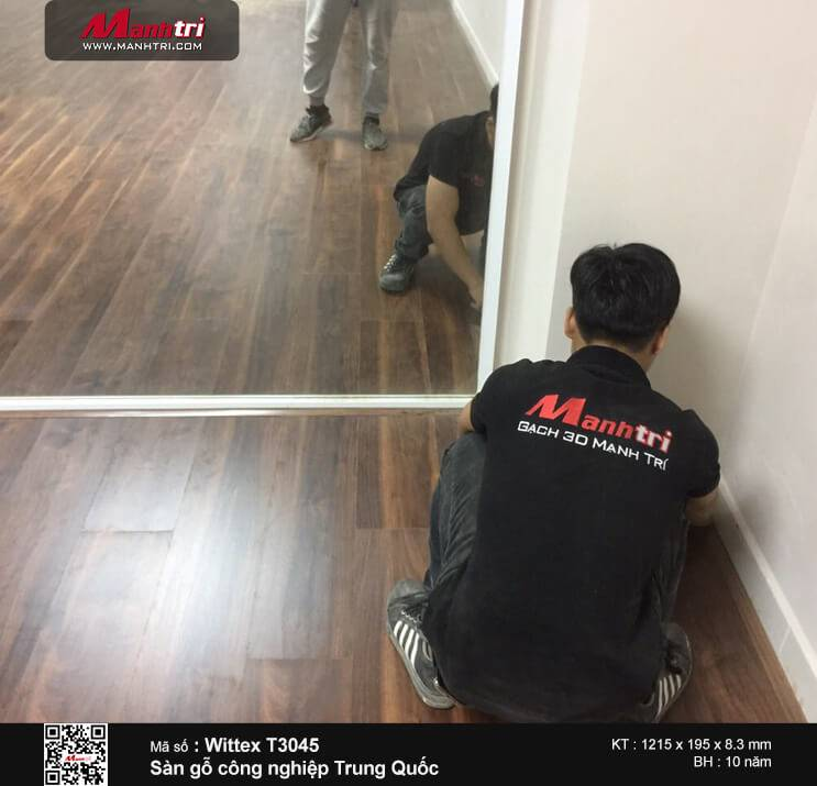 Thi công sàn gỗ công nghiệp Wittex 3045 tại Trần Quốc Thảo, P.7, Q.3