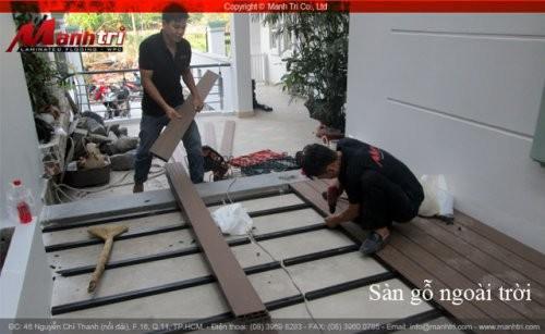 Dự án thi công sàn gỗ ngoài trời Awood HD140x25 tại quận 2 TPHCM