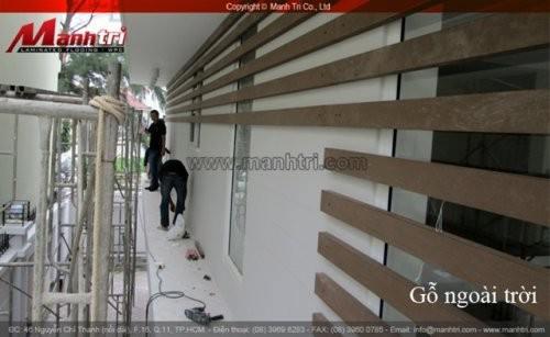 Dự án thi công sàn gỗ ngoài trời Awood R90x40 tại Bình Tân TPHCM