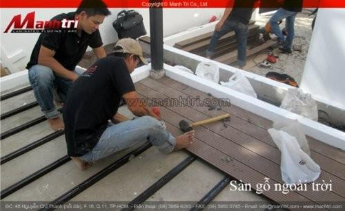 Dự án thi công sàn gỗ ngoài trời Awood tại quận Phú Nhuận TPHCM