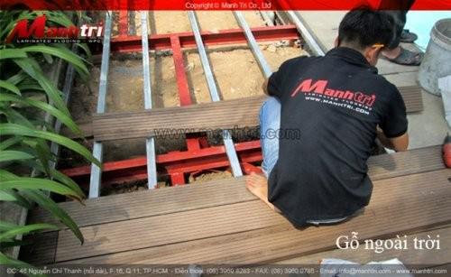 Dự án thi công sàn gỗ nhựa ngoài trời tại quận 7 TPHCM