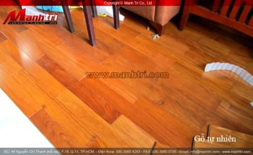 Dự án thi công sàn gỗ tự nhiên Căm Xe tại quận 10 TPHCM