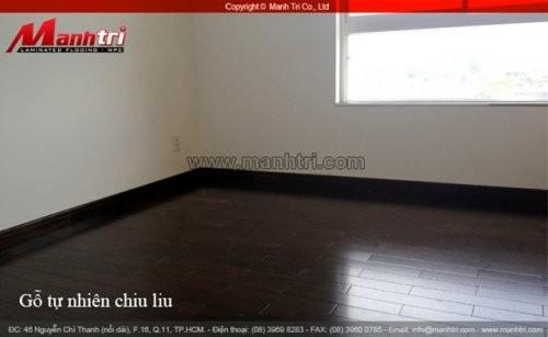 Dự án thi công sàn gỗ tự nhiên Chiu Liu tại quận 5 TPHCM