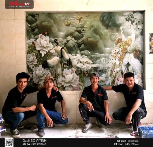 Gạch 3D ốp tường nhà Cô Vân quận Tân Bình, HCM