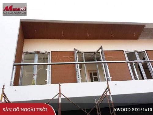 Gỗ nhựa Awood HD140x25_Wood ốp tường ngoài trời tại Đồng Nai