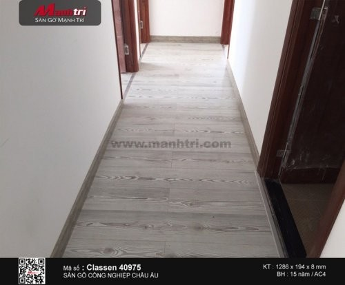 Lót sàn gỗ công nghiệp Classen 40975 tại Quận Phú Nhuận, TP.HCM