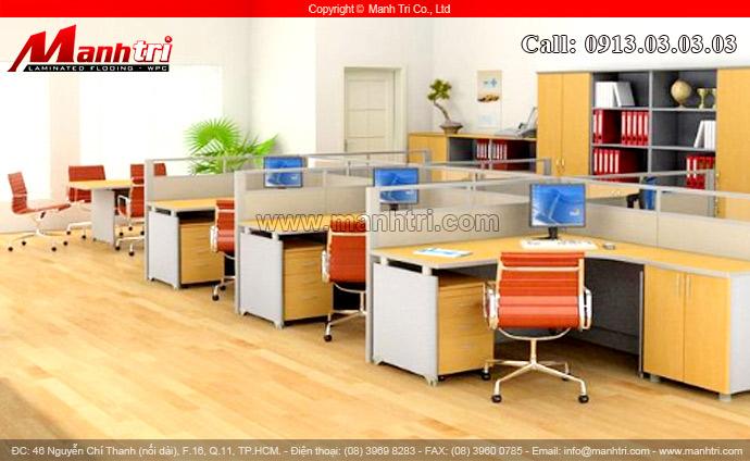 Hình ảnh ván gỗ lót sàn công nghiệp cho phòng làm việc