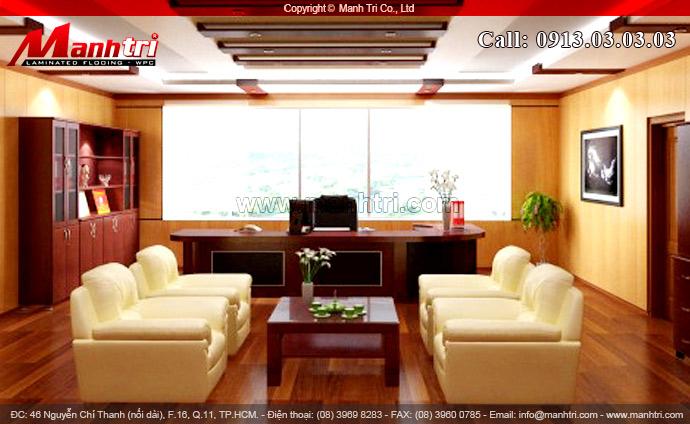 Hình ảnh gỗ công nghiệp lót sàn phòng khách