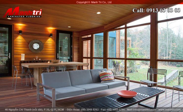 Hình ảnh gỗ tự nhiên ốp trần trong nhà