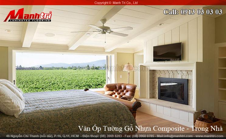 Hình ảnh gỗ nhựa Composite ốp tường nội thất