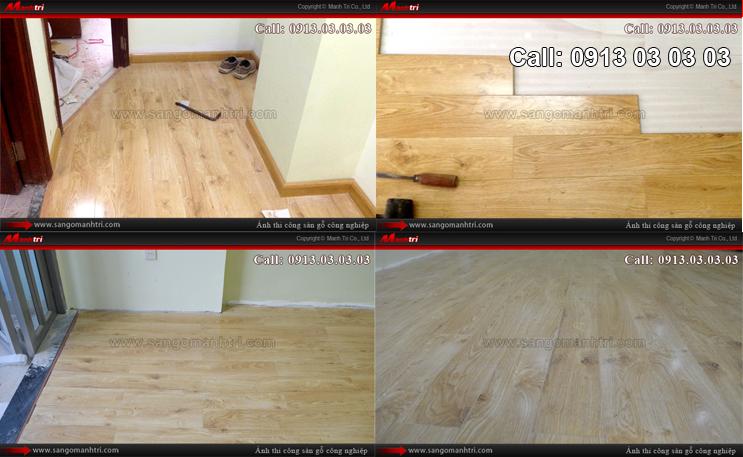 Hình ảnh ván gỗ chưa lắp đặt len chân tường sàn gỗ