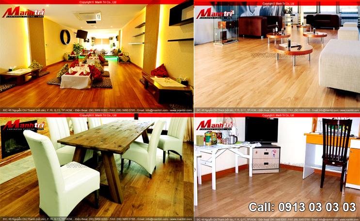 Hình ảnh sàn gỗ khi đã được vệ sinh sạch sẽ