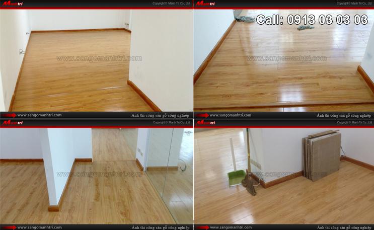 Hình ảnh sàn gỗ công nghiệp dùng lót sàn gỗ