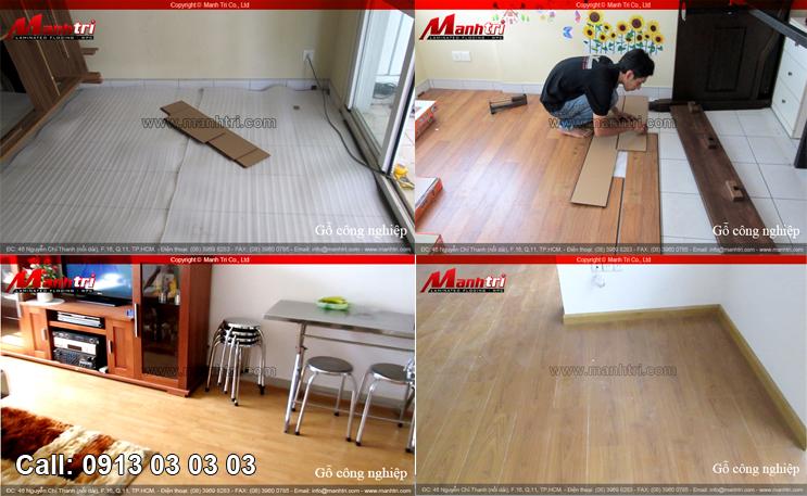 Hình ảnh sàn gỗ công nghiệp trong nhà
