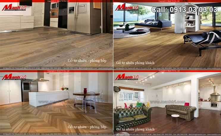 Thiết kế nội thất cùng sàn gỗ công nghiệp