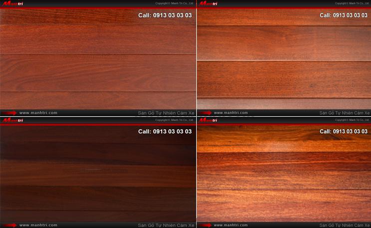Hình ảnh những mẫu gỗ tự nhiên Căm Xe dùng lót sàn nhà