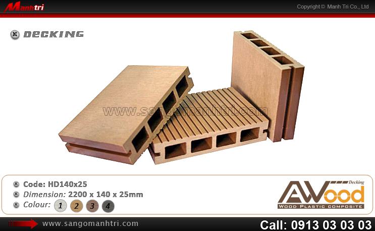Mẫu gỗ Awood HD140x25
