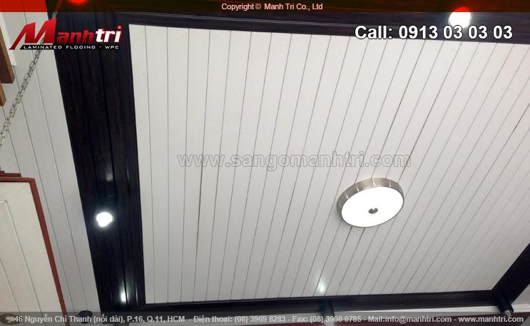 Gỗ ốp trần Composite trong nhà