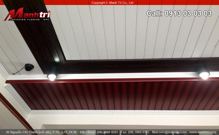 Hình ảnh gỗ ốp trần Composite tại quận 10, TPCHM