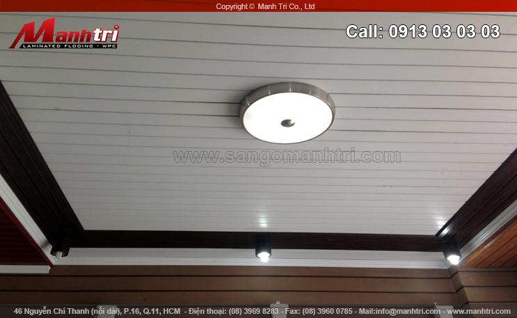 Hình ảnh gỗ nhựa Composite ốp trần nhà